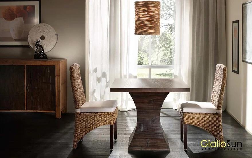 Tavolo Componibile Clessidra e Sedia Tropical GialloSun