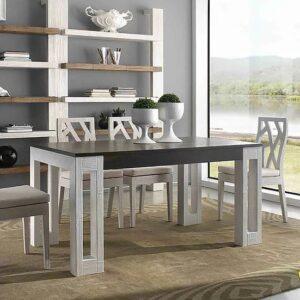 Tavolo allungabile Light e sedie Light