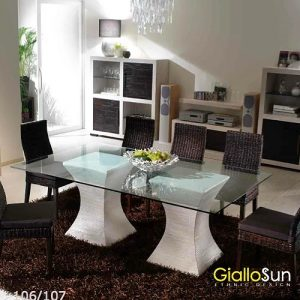 Tavolo Componibile Clessidra e Sedia Tropical