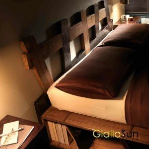 Letto Cross Miele e Brown